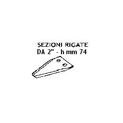 "SEZIONE RIG. 2"" h-mm 74 - 2 F. mm 5,5 - 2001 - 74 SEP"