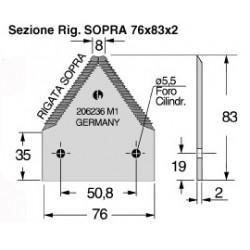 SEZIONE PEDROTTI TAGLIABALLONI 206236/M1 FORI 6,5 SV. SOTTO RIG. SOPRA P8