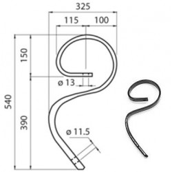 MOLLA FLEX mm 32x10 (senza vomerino)
