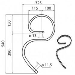 MOLLA FLEX mm 32x12 (senza vomerino)