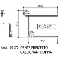 DENTE ERPICETTO GALLIGNANI DOPPIA