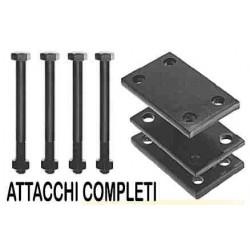ATTACCO 2 SPIRE 25X25 T. 80X80 COMPLETO
