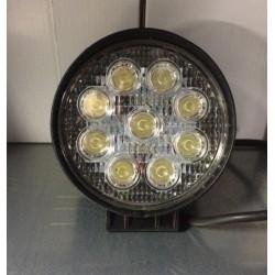 FARO LAVORO LED ROTONDO 9 LED 12/24V 3W 2150 LUMENS