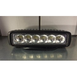 FARO LAVORO LED RETTANGOLARE  mm 280x60x90 10/30 V - 6 LED x 3 W (1320 LUMENS)