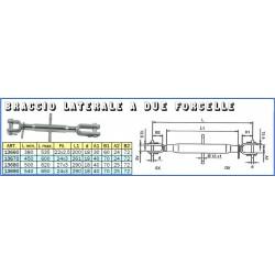 BRACCIO LATERALE 2 FORCELLE mm 450x24