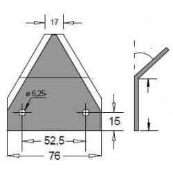 SEZIONE LISCIA 76x88x3 INT. 52,5 FORI d. 6,5 PIEGATA IN PUNTA 45° AD. ZAGO
