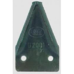 """SEZIONE RIGATA DA 2"""" (P78532) mm 50x80 spessore 2,5 fori mm 8,5"""