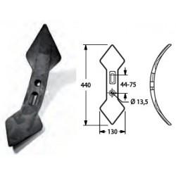 VOMERINO CHISEL REV. DOPPIA LANCIA mm130 INT. 45-75