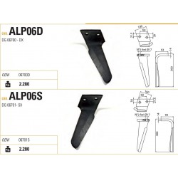 DENTE ALPEGO RG-DG 100X14X300 INT.60 FORO PARALLELO AL BORDO (ALP06)