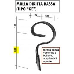 MOLLA DIRITTA mm 32x10 tipo GE (h mm 400) (senza vomerino)