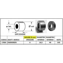 DISTANZIALE ENERGREEN mm d 46x6 foro 16,5 (mat. C45)