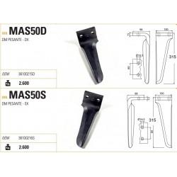 DENTE MASCHIO DOMINATOR 100X15X315 INT.60 (DM-AQUILA RINFORZATO)