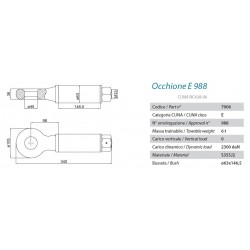 OCCHIO TRAINO MONOASSE BBM-988 (E PESANTE)