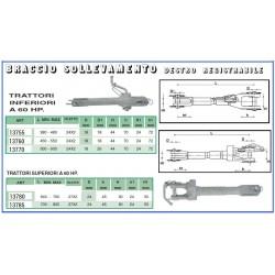BRACCIO SOLLEVAMENTO DX REG. 500-600 ~ 24x2