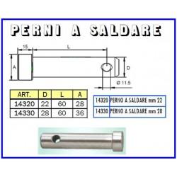 PERNO A SALDARE mm 22