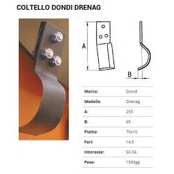COLTELLO SCAVAFOSSI DONDI DRENAG 70X10 (627001-2)