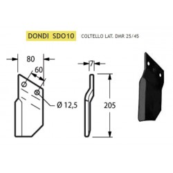 COLTELLO DONDI LATERALE DMR 25/45 SDO10