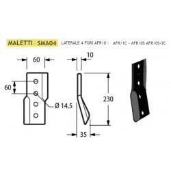COLTELLO LATERALE MALETTI 4 FORI 60x10 INT. 60 SMA04