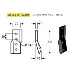COLTELLO LATERALE MALETTI 4 FORI 70x10 INT. 50 SMA05