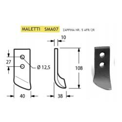 ZAPPINA MALETTI 40x10 SERIE 1-5 SMA07