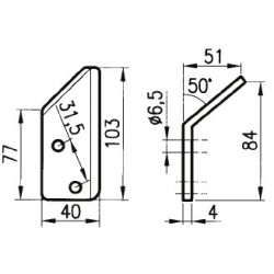 LAMINO ANGOLATO 40x84x4 Dx/Sx