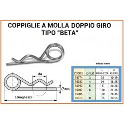 COPPIGLIA A MOLLA mm 6 DUE GIRI