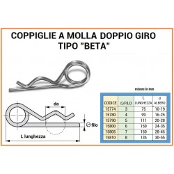 COPPIGLIA A MOLLA mm 7 DUE GIRI
