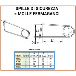 SPILLA SICUREZZA mm 6