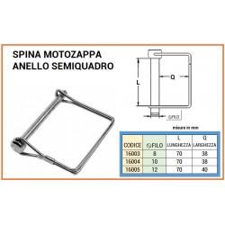 SPINA MOTOZAPPA mm 8x70 ANELLO SEMIQUADRO