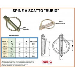 SPINA A SCATTO RUBIG mm 10,5 LUNGA CON INCASTRO