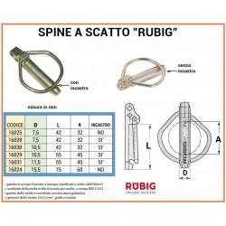 SPINA A SCATTO RUBIG mm 10,5 CON INCASTRO