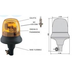 FARO ROTANTE COBO con supporto FLESSIBILE + lampadina 12V