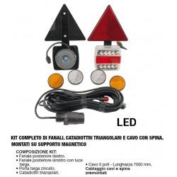 IMPIANTO UNIVERSALE MAGNETICO CON TRIANGOLI (FANALI A LED)