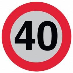 DISCO LIMITE 40 km/ora CON SUPPORTO ADESIVO