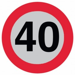 DISCO LIMITE 40 km/ora CON SUPPORTO IN ALLUMINIO