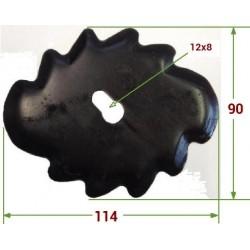 COLTELLO ELLITTICO DENTATOTIPO STRORTI MOD. NUOVO mm 115X90X5