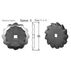 COLTELLO CIRCOLARE DENTATO Dimensioni mm 95x5 foro 11 produzione ITALIA