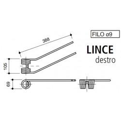 DENTE GIRELLO LINCE-FORT DESTRO foro mm 51