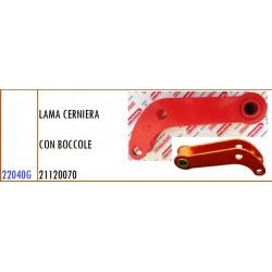 LAMA CERNIERA (BIELLA) CON BOCCOLE 21120070 GASPARDO FB925 E ALTRI MODELLI - ORIGINALE