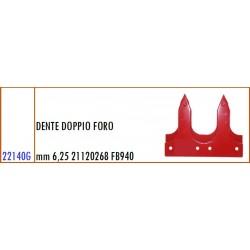 DENTE DOPPIO FORO mm 6,25 21120268 GASPARDO FB940 - ORIGINALE