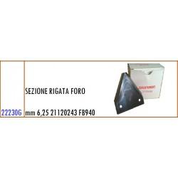 SEZIONE RIGATA FORO mm 6,25 21120243 GASPARDO FB940 - ORIGINALE